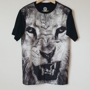 Hybrid Mesh Lion Leo Head / Face Tee